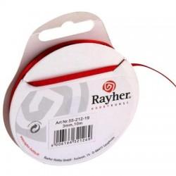 Ruban Satin   coloris Rouge Vin Rouleau : 3 mm x 10 m