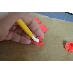Outils de modelage : Stylet coquille-lame /Stylet peigne-pelle (2 pièces)