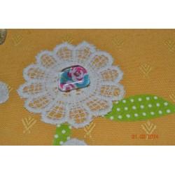 """Appliqué Fleur (lot 2 pièces) - 2 couches Rose mariage Rétro couture 7.5 cm (Lot ZZ09) Sélection """"Dans mon Grenier"""""""