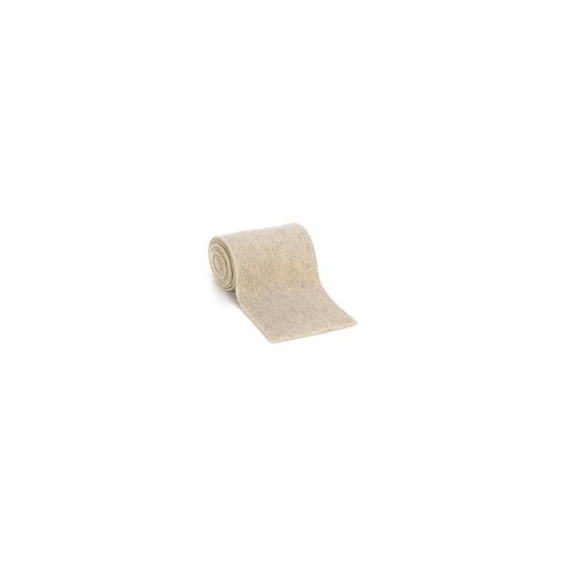 Ruban  Feutre de Laine - Feutrine - 100 % laine - Ecru   largeur 13 cm (1m50)