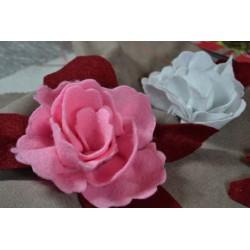 Ruban Feutre de Laine - Feutrine - 100 % laine - Rose   largeur 7.5 cm (1.6 m)