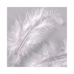Plumes Blanches (Sachet 30 pièces) taille 10 cm environ