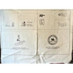 """Tissu 100 % coton Motifs Jouets enfant """"Enfance"""" panneau blanc cassé (68 x 62 cm)"""