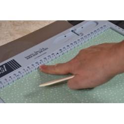 Planche Scor Pal, outil de pliage avec rainurages en centimètre  pour scrapbooking, pliages , cartes ,  boites créations DIY