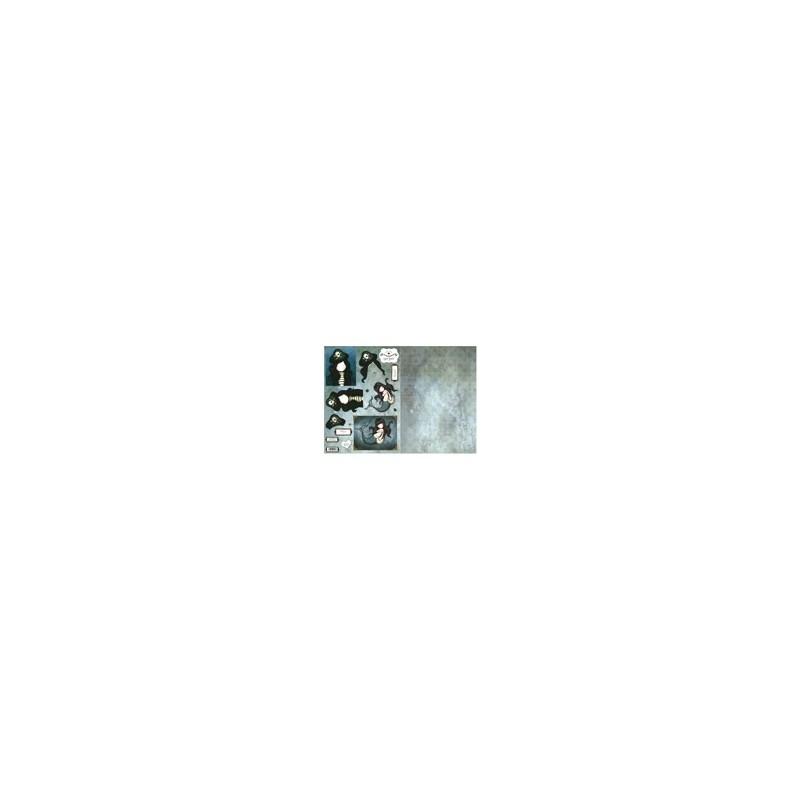 Carte 3 D Planche Prédécoupée Image 3 D (pour création 2 cartes) - Collection Gor Juss Fillette Sirène