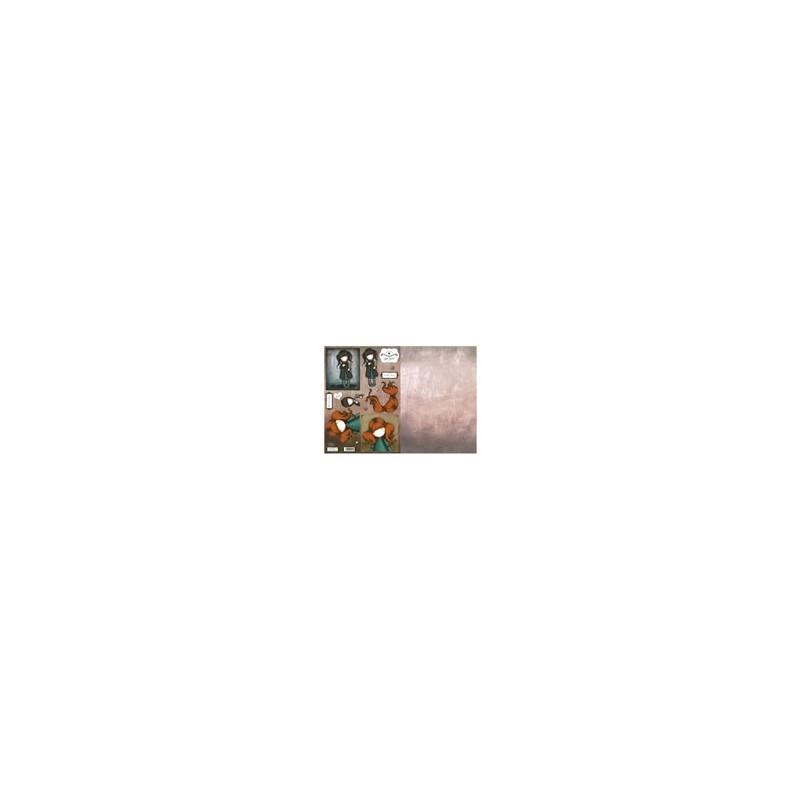 Carte 3 D Planche Prédécoupée Image 3 D (pour création 2 cartes) - Collection Gor Juss Fillette Rousse Technique du 3 D