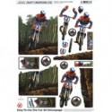 Planche images Motifs 3 D Prédécoupés Moto Cross