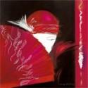 Image 3 D Image Rétro Femme Eventail 40 x 40 (vendue à l'unité) Tableau à réaliser selon la technique du 3 D