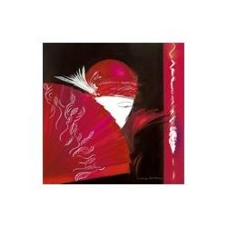 Image 3 D -  Image Rétro Femme Eventail 40 x 40 (vendue à l'unité) Tableau à réaliser selon la technique du 3 D