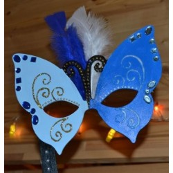 Masque Papillon  en bois à décorer & personnaliser (20.5 x 31cm) en bois léger