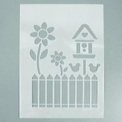 Pochoir Jardin 4 motifs (format A 5)