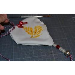 """Peinture Scintillante tous supports Blanc """"Ice Sparkle"""" (textile, bois, papier, châssis...)"""