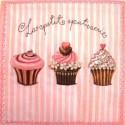 Serviette Muffins CupCakes (vendue à l'unité) 3 plis