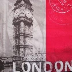 Serviette en papier thème Londres (vendue à l'unité)