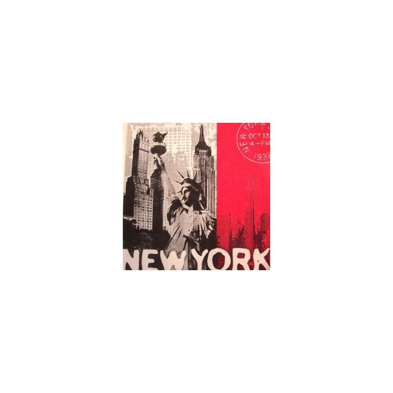 Serviette en papier thème NewYork (vendue à l'unité)