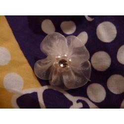 Strass Mini Perles Adhésives (Blanc) - plaque de 80 pièces
