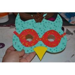 Elastiques blancs pour Masque Carnaval ou créations DIY  longueur 60 cm (Sachet 10 pièces)