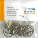 Anneaux  Porte-Clés avec chaînette   (Sachet 10 pièces)