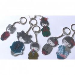 Anneaux pour Porte-Clés avec chaînette   (Sachet 10 pièces)