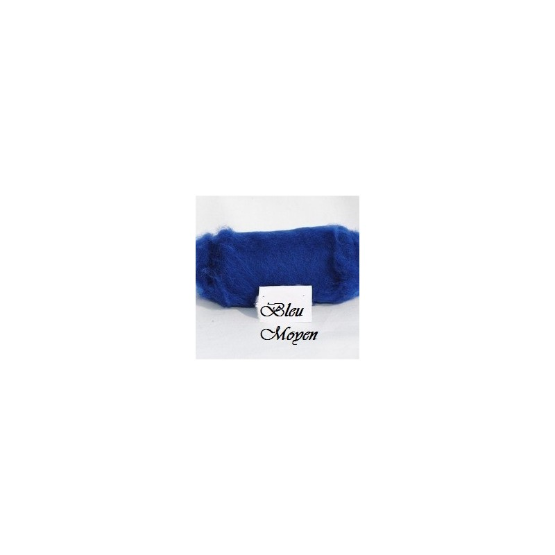 Laine Cardée à Feutrer 50 gr Bleu Moyen  LNK6002