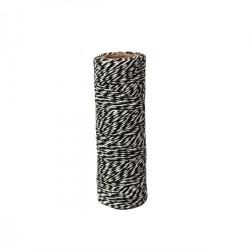 Ficelle décorative Twine multi services bicolore coton noir/Blanc  30 m (vendue sous blister)
