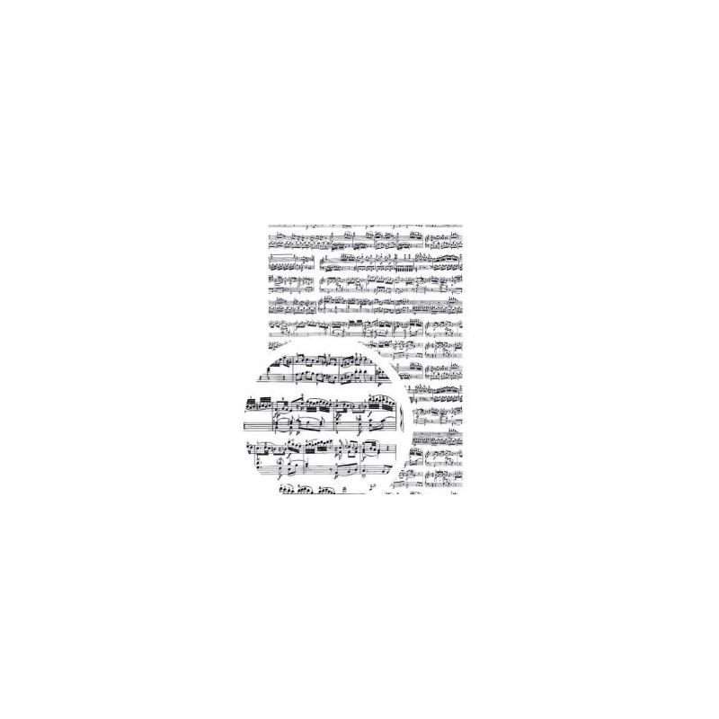 """Tissu Adhésif planche A4 - Imprimé """"Partition"""""""