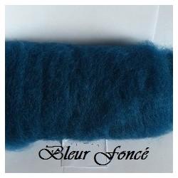 Laine Cardée à Feutrer 50 gr Bleu Pétrole LNK6011