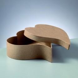 Support à décorer en Carton Boîte en forme de Coeur (vendu à l'unité)