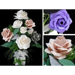 "Moule pour thermoformage  JUMBO forme Fleurs "" Grande ROSE"" & ses Feuilles"