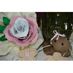 "Moule pour thermoformage  JUMBO forme Fleurs "" Grande ROSE"" & ses Feuilles"