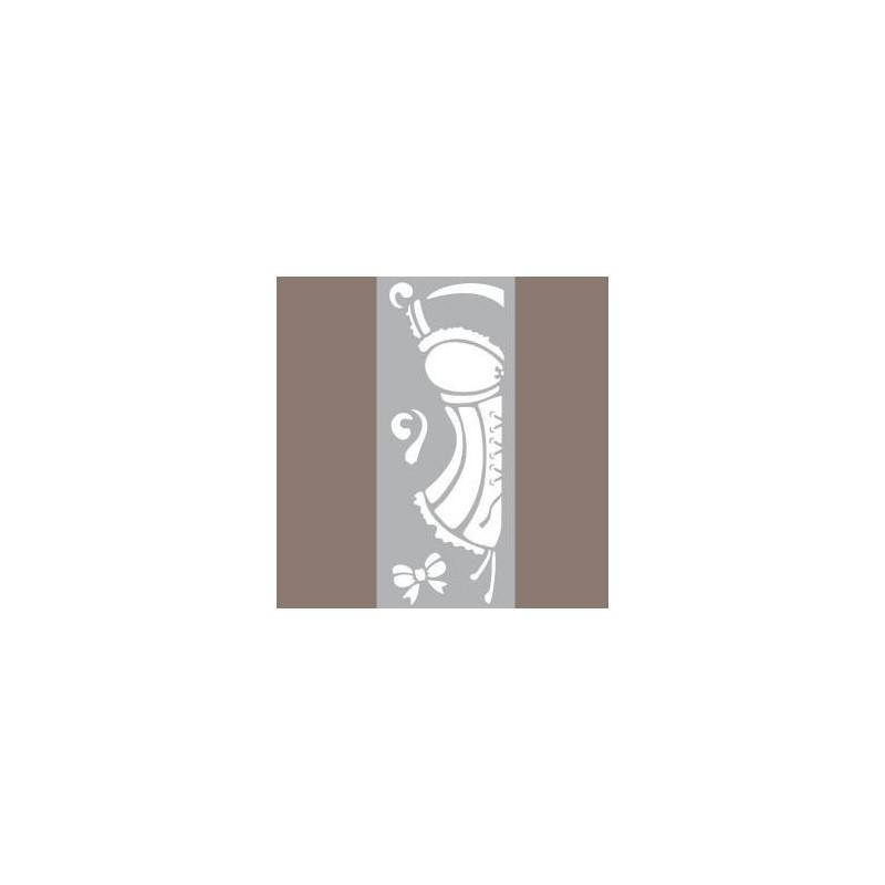 Pochoir Lingerie (Grand format ) Décor Corset