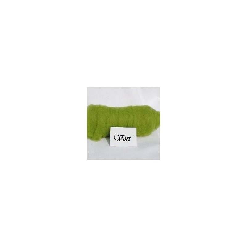 Laine Cardée à Feutrer 50 gr Vert Pistache LNK5016