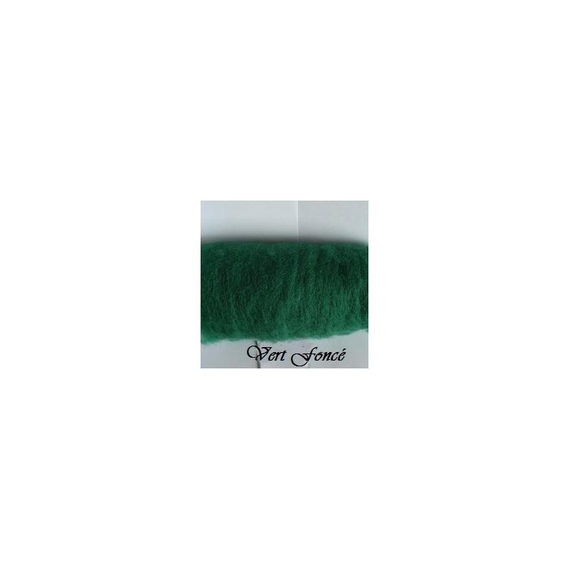 Laine Cardée à Feutrer 50 gr  Vert Foncé  LNK5007
