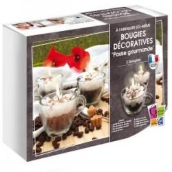 Kit Bougies Pause Créative Gourmande (3 bougies à créer)