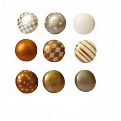 Attaches Parisiennes/Brads coloris Or Argent (60 pièces)