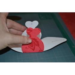 Matrice en bois coeur pour fabrication petites boites cadeau