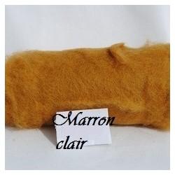Laine Cardée à Feutrer 50 gr Marron Clair Caramel LNK2011