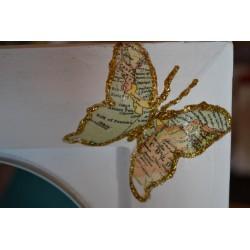 """Serviette en papier motifs : """"Pensées Primavera""""  (vendue à l'unité)"""