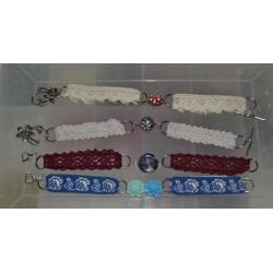 Ruban tissu adhésif Masking Tape Dentelle coton Rose 17mm X 2,5m