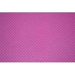 Tissu Adhésif planche A4  Imprimé Pois Rose