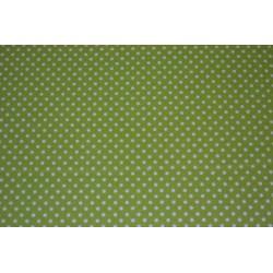 """Tissu Adhésif planche A4  Imprimé Pois Vert """"pomme"""""""