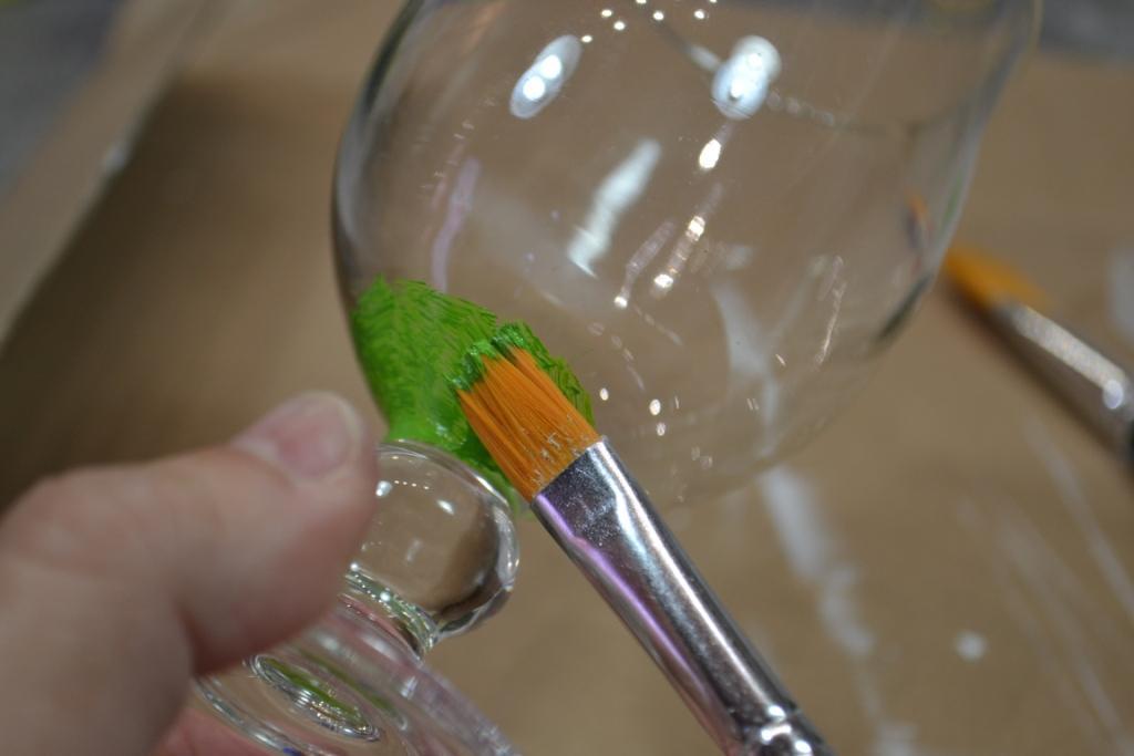 Atelier Peinture Facile Peinture Sur Verre Verres Tulipe Tutoriel