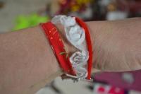 """""""2 minutes pour CREER"""" : DIY Bracelet Mini Manchette """"Dentelle de Roses"""",  vidéo"""