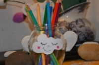 2 Minutes pour créer : Peindre de Petits pots de Verre de Nuages & de Sourires ! VIDEO
