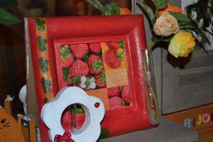 ATELIER TUTO HOME DECO - Art Floral : Un tableau vase soliflore, le Jardin de Fraises, TUTORIEL