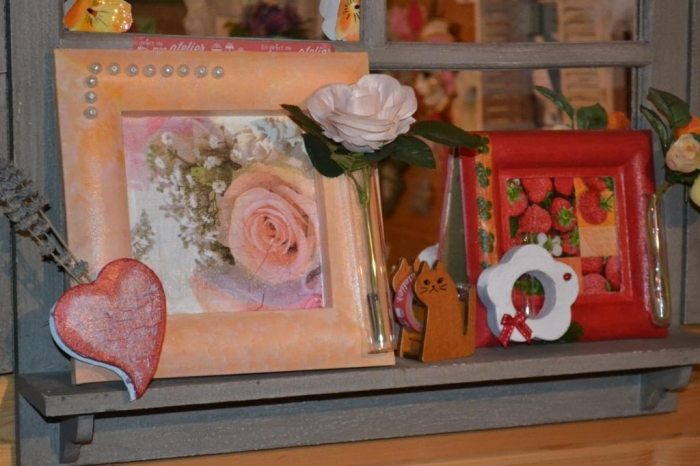 ATELIER HOME DECO : Transformer un cadre en  Tableau-Vase, Art Floral , VIDEO