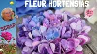 Atelier BRICOLAGE/ SCRAP/HOME DECO : création FLEUR COEUR/BOULE HORTENSIA SCRAP,  VIDEO