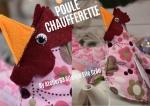 Atelier BRICOLAGE/COUTURE FACILE/HOME DECO : POULE CHAUFFERETTE MUG OU POULE CACHE OEUFS EN CHOCOLAT, TUTORIEL
