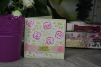 """Atelier Carterie : Carte d'Anniversaire """"tout en rose"""", ou le plaisir d'offrir, tutoriel"""