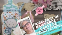 Atelier CARTERIE : CARTE en forme de BIBERON, FAIRE-PART de NAISSANCE  - DIY, VIDEO